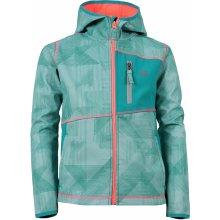 Alpine Pro Jandro KJCJ082 dětská softshellová bunda tmavě zelená