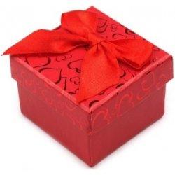 Stoklasa Krabička na šperky 5x5 cm s mašlí (1 ks) - červená ... 2c8fdd44df3