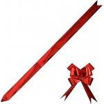 Stuha stahovací 2,5/ 50 cm - metal červená