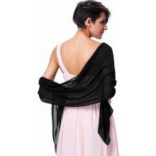 Přehoz přes ramena ruce šál luxusní KK000229-2 černá