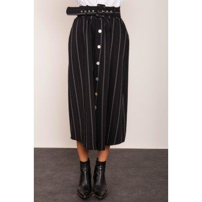 BSL sukně s pruhy černá