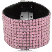 Shine bižuterní třpytivý barevný náramek růžový TN019