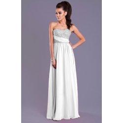 Eva   Lola dámské společenské plesové šaty bílé ecru alternativy ... e4154a067d
