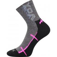 VoXX WALLI Sportovní ponožky - černá/růžová