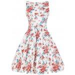 Lady V London Retro šaty Blossom Floral Tea White 56c817d90b