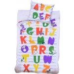 Bedtex povlečení bavlna Anglická abeceda 140x200 70x90