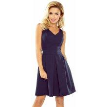 b41d3eba8a4 Numoco dámské společenské šaty bez rukávů široká sukně s kapsami tmavě modrá