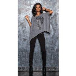 Barevné jeans P05 šedé
