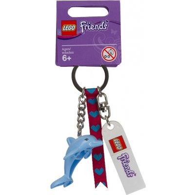 Přívěsek na klíče Lego Friends 851324 delfína na batoh s destičkou