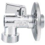 Aqualine Pračkový kulový ventil se zpětným ventilem 1/2'x3/4' - L, chrom - 5310