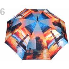 Dámský vystřelovací deštník 6 červená rumělka