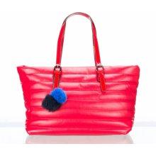Co & Coo Fashion prošíváná kabelka s bambulí velká VK0061-03