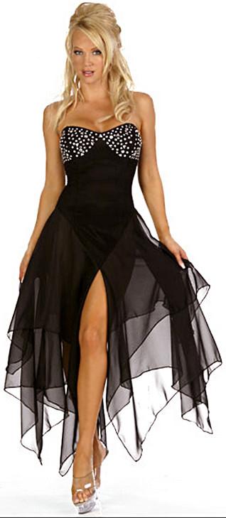 Plesové šaty Krátké společenské černé šaty Elegant Salsa dress ... 92c177ba29