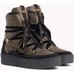 Tommy Hilfiger khaki kožené boty Cozy Warmlined Leath s kožíškem b3d3132aa1