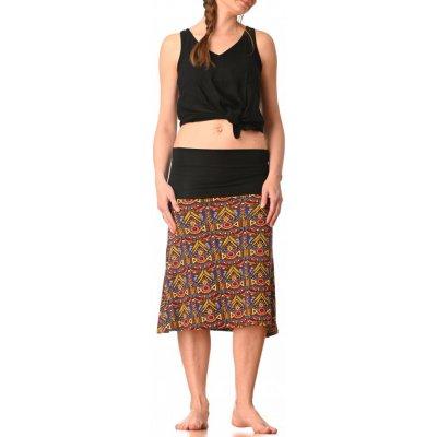 Střečová sukně krátká Azték yellow