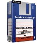 Total Commander - rozšíření z licence pro 1 uživatele na 31 uživatelů