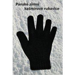 Zimní rukavice pánské Sandrou kašmír černá (Zimní rukavice pletené - černá) 32774a1f7f