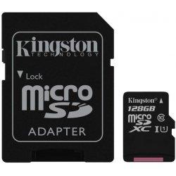 Kingston microSDXC 128GB UHS-I U1 + adaptér SDC10G2/128GB