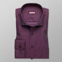 Pánská slim fit košile 8666 ve fialové s úpravou 2W Plus a4b08d4a3b