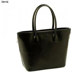 velká dámská kabelka kožená Shopper bag A4 černá alternativy ... d11784e3d8b