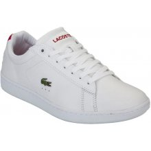 Lacoste Womens Carnaby EVO Trainers White red 9aa31e3729