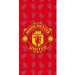 Jerry Fabrics Plážová osuška Manchester United červená 75x150 cm