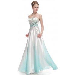 389934d4cf0 dlouhé svatební Společenské šaty korzetové se zeleným zdobením Bílé ...