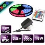 Berge LED pásek 2,5m, RGB 5050, 30LED/m, 18W, IP20, sada