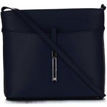 f503edb2d682 kožená kabelka listonoška z velmi dobré kůže tmavě modrá