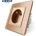 LIVOLO VL-C7C1FR-13 Elektrická zásuvka FR - zlatá