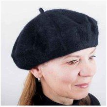Tonak 87211 Černý dámský baret z čisté vlny