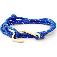 Trendhim světle modrý a zlatý náramek Rybářský háček XH-FHG2-003