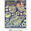 Pokojová dekorace svítící ve tmě planety 31x29cm 603, Anděl Přerov Anděl Přerov