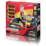 Bburago RC Ferrari Parking Garage se čtyřmi autíčky 31218