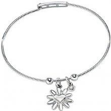 Morellato Ocelový náramek s kytičkou a diamantem Enjoy SAJS01
