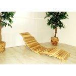 Skládací plážové lehátko z teakového dřeva, P346