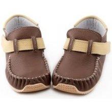 Barefoot dětské ZEAZOOkids mokasíny HNĚDÉ b1f90500a7