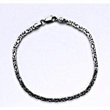 Čištín stříbrný náramek s patinou řetízek ze stříbra 3823