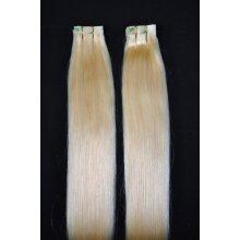 Tape-in, 45 cm, blond (613), 20 pásků, rovné, lidské vlasy