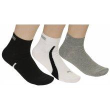 Puma ponožky 201204001/Lifestyle Quarters 3 Pack - White/Gray/Black