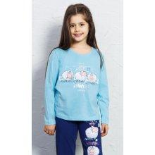 Dětské pyžamo dlouhé Ovečky tyrkysová
