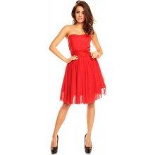 e8246ca3497 Kartes Moda šaty dámské KM114-2 koktejlové červená