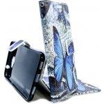 Pouzdro Wallet Design Huawei Ascend Y7 motýl