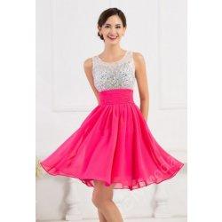 Společenské šaty krátké růžové CL7508 alternativy - Heureka.cz 45b85637182