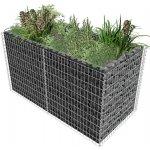 zahradaXL Ocelový gabionový truhlík 180x90x100 cm stříbrný