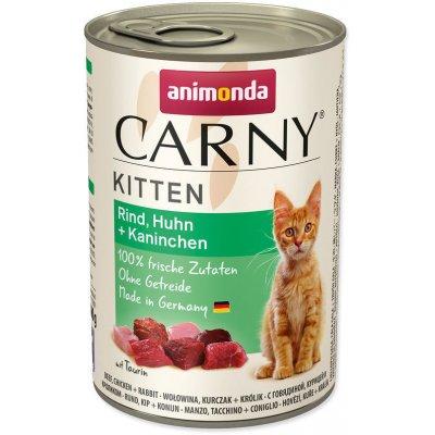 Animonda Carny Kitten hovězí kuře & králík 400 g