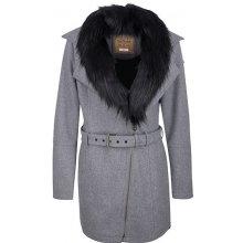 DreiMaster dámský kabát s příměsí vlny 390 843 graumelange