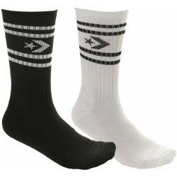Converse ponožky Vintage Star Chevron Stripe Crew 2 Pack - E729A White Black 103f9b701e