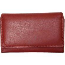 tmavě kožená peněženka HMT červená