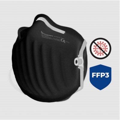 BreaSAFE Nano respirátor CLASSIC FFP3 CZ Černý 1 ks